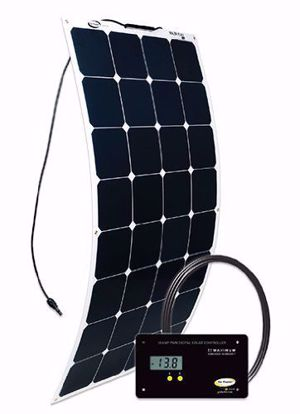 Picture of Go Power! GP-FLEX-100 Flexible 100 Watt Solar Panel Kit w/ Controller