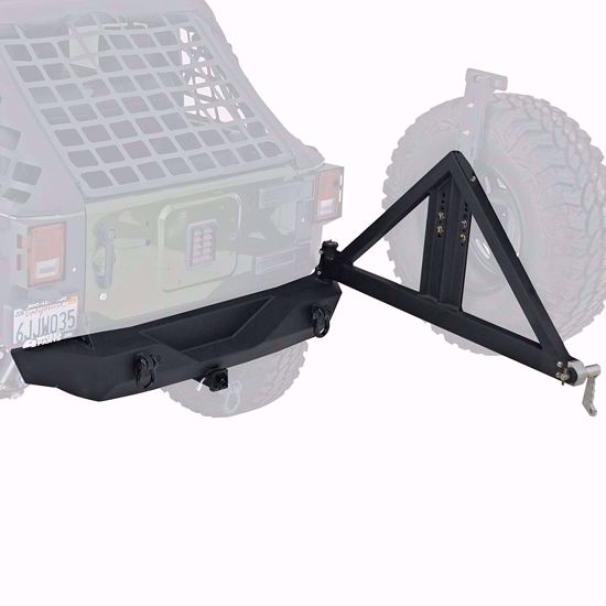 Picture of Smittybilt 76856 JK Jeep Wrangler XRC Rear Bumper w/ Tire Carrier & Receiver