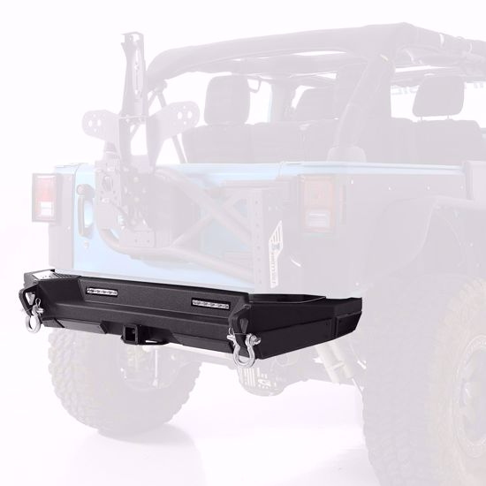 Picture of Smittybilt 76858 JK Jeep Wrangler XRC Gen2 Rear Bumper w/ Receiver