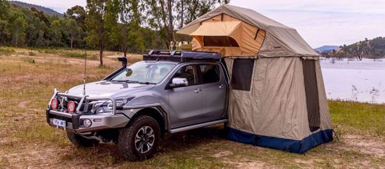 Picture of ARB 803804 Simpson III Rooftop Tent w/ Annex