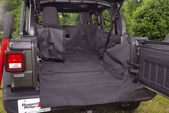 Picture of Rugged Ridge 13260.13 Jeep JL Wrangler Unlimited C3 Rear Dog Hauling Cargo Carrier