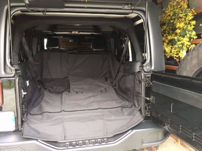 Picture of Rugged Ridge 13260.02 JK Jeep Wrangler Unlimited C3 Rear Dog Hauling Cargo Carrier