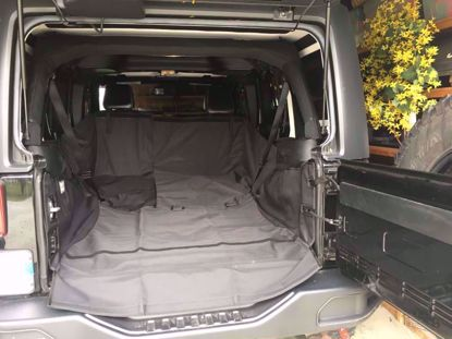 Picture of Rugged Ridge 13260.01 JK Jeep Wrangler Unlimited C3 Rear Dog Hauling Cargo Carrier
