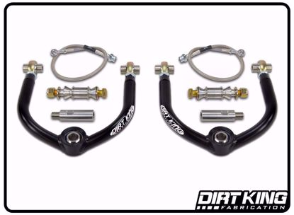 Picture of Dirt King DK-702924 Titan Swap Upper Control Arms Kit w/ Extensions & Brakelines