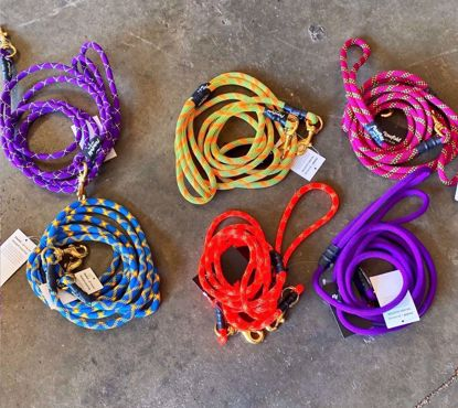 Picture of Flowfold Trailmate Recycled Climbing Rope Dog Leash, 6ft