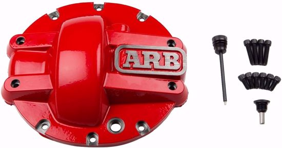 Picture of ARB 0750008 Heavy Duty M226 Diff Cover for 2nd Gen Nissan Frontier & Xterra, Red