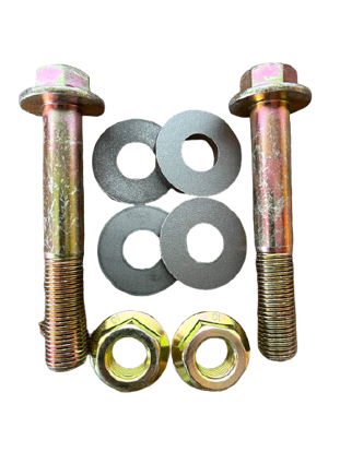 Picture of Replacement Lower Shock Bolts + Weld Washers for 2nd Gen Nissan Frontier and Xterra